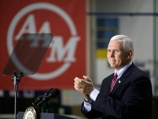 Vice President Mike Pence speaks at American Axle and