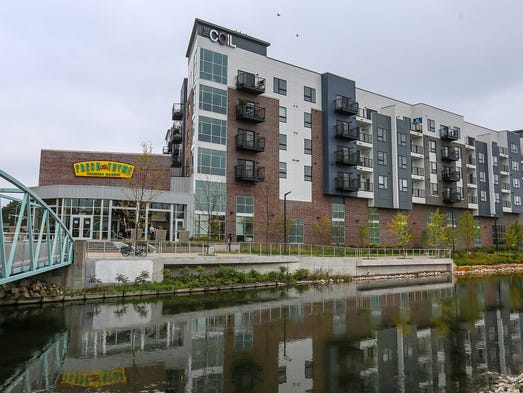 The Coil apartments at 6349 North College Avenue in
