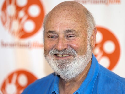 "Rob Reiner, director of opening night film ""LBJ,"" poses"
