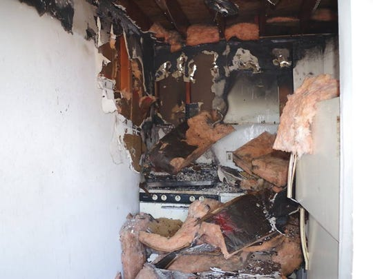 A fire severely impacted a kitchen in a Washington Avenue apartment home in Asbury Park, NJ Dec. 23, 2016.
