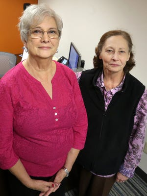 Lyn Shaw, left and Jackie Bradshaw are retiring from The Daily News Journal. Photo taken on Thursday Oct. 29, 2015.