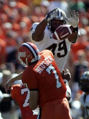 Anthony Spencer spent a lot of time in opponents' backfields during his Purdue career.