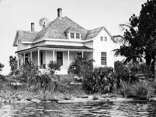 The Hancock family home along the St. Lucie River.