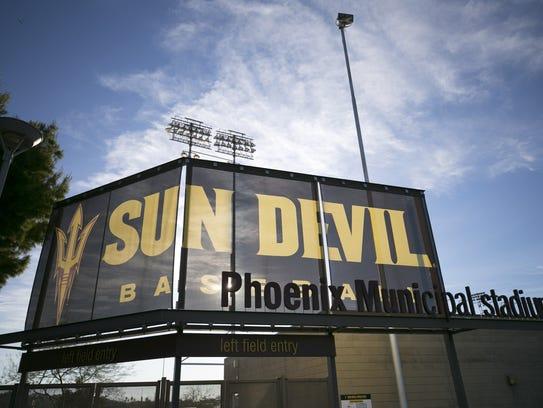 Phoenix Municipal Stadium, home of ASU basball on Friday,
