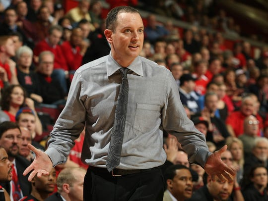 Mike Rice coaching at Rutgers