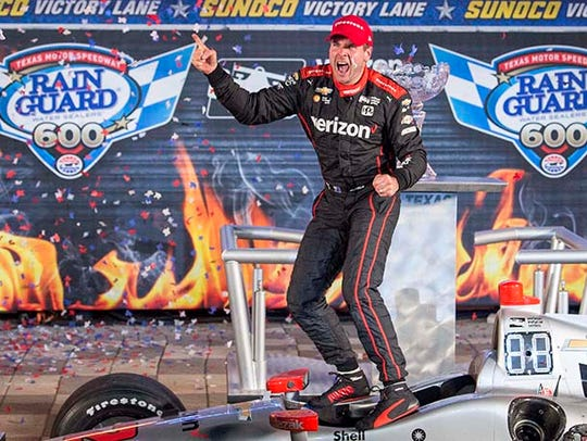 Verizon IndyCar Series driver Will Power (12) celebrates