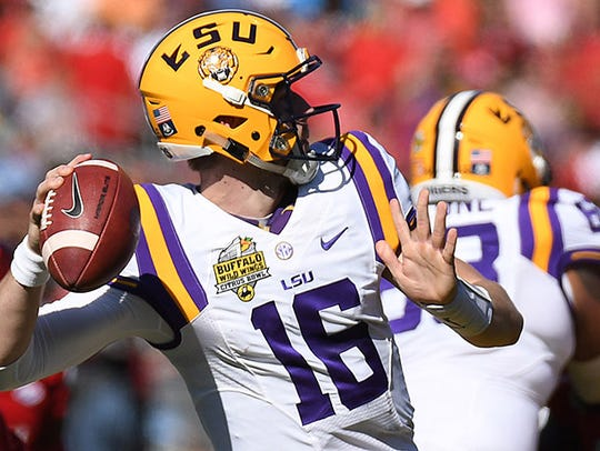 LSU Tigers quarterback Danny Etling went to high school