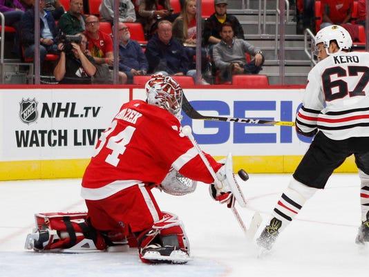 NHL: Preseason-Chicago Blackhawks at Detroit Red Wings