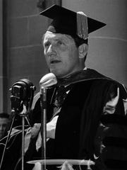 Actor Spencer Tracy is honored at Ripon College in 1940.