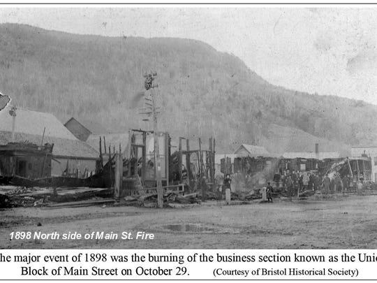 The major event of 1898 was the burning of the business