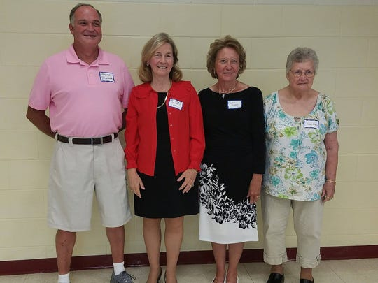 Pictured from left to are Archie Barber, Rosemary Stewart Oliver, Carolyn Shumaker Owens, and Joan Moon Gray, members of McClain High School class of 1967.
