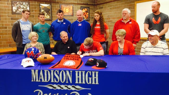 Madison's Cole Cuthbertson has signed to play college football for Davidson.
