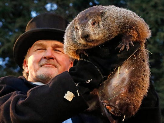Punxsutawney Phil saw his shadow, so he predicts 6