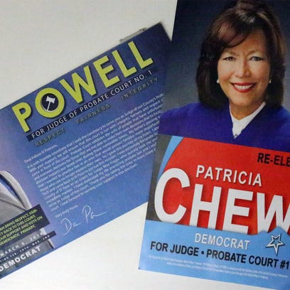 Promotional flyers for Probate Court #1 candidates