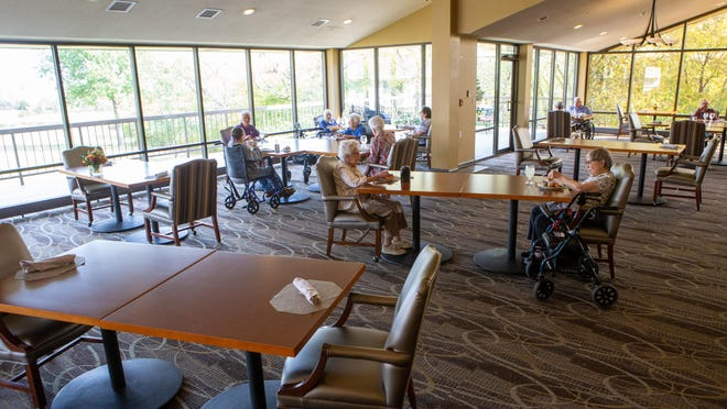 Aldersgate Village, the dining area of which is pictured here, is looking to add 84 new units to its 423-unit complex.