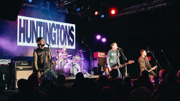 Baltimore punk-rock act Huntingtons will play a free concert at the Alibi Room in Ocean City on Saturday, Jan. 20. Standard Bearer and Red Bullett will also perform.
