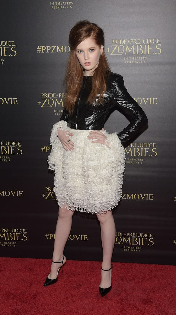 Actress Ellie Bamber attends the premiere of Screen