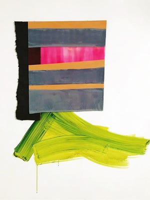 "Art by Rita Leduc from the show ""Interconnected"" at Mount Saint Mary College's CMA Gallery. The show will feature the works of Leduc and Lynn McCarty, two artists who both work in the exploration of form, color and material. An artists' reception is set for Feb. 28."