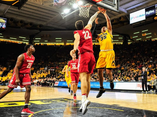NCAA Basketball: Wisconsin at Iowa