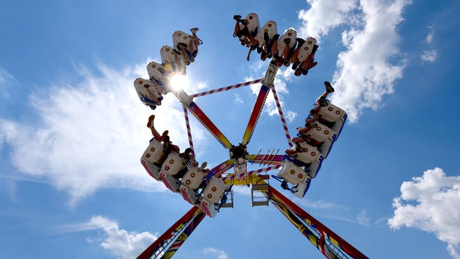 A ride at a previous fair is pictured.