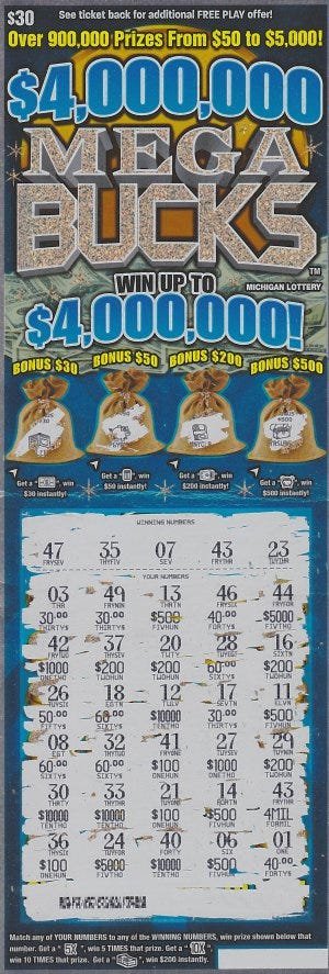 Michigan lottery second chance prizes for teens