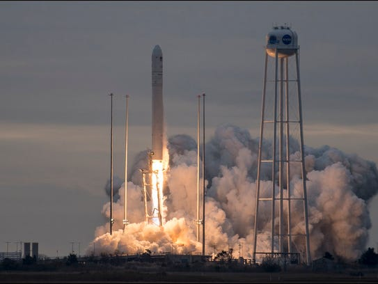 Orbital ATK's Antares rocket launched Sunday, Nov.