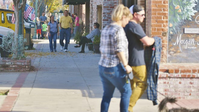 Shoppers strolled through downtown Exeter during Small Business Saturday.