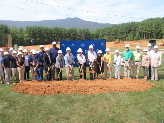 Athletic Complex Groundbreaking - large group
