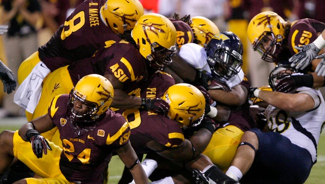 Arizona State and Northern Arizona opened the 2012 season with a Thursday game at Sun Devil Stadium in Tempe.