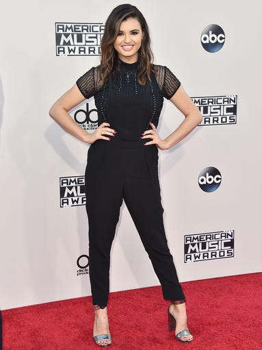 Rebecca Black arrives at the American Music Awards