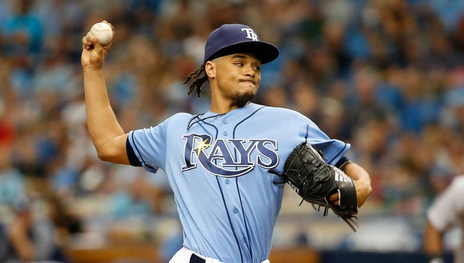 Rays pitcher Chris Archer has averaged 244 strikeouts over the past three seasons.