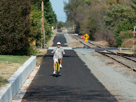 Jim Kelly on the bike trail
