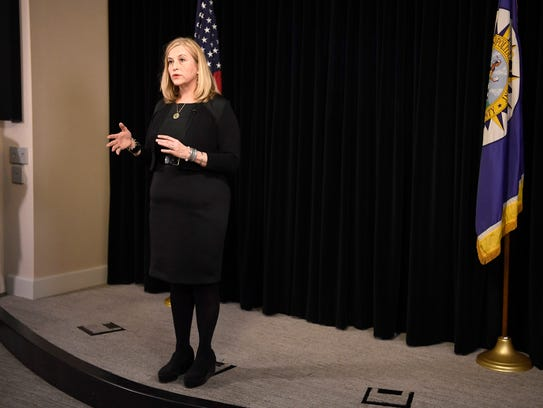 Nashville Mayor Megan Barry speaks at her press conference