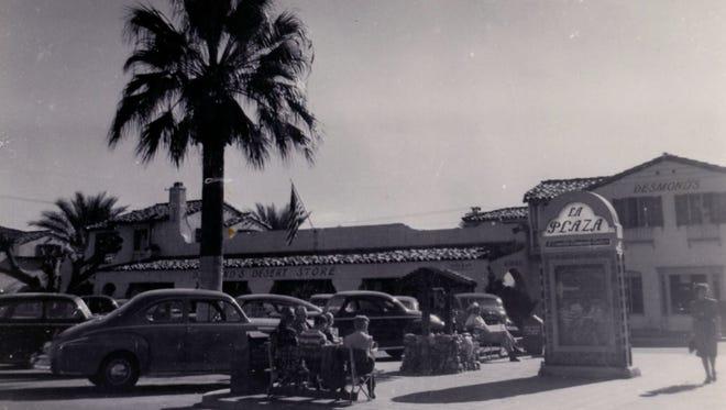 La Plaza (140 S. Palm Canyon Drive, looking southeast),  c. 1946.