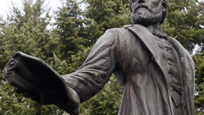 The statue of Jason Lee at the Oregon Capitol. Both statues in the National Statuary Hall are likely to be replaced.