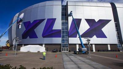 University of Phoenix stadium is preparing for the Super Bowl!