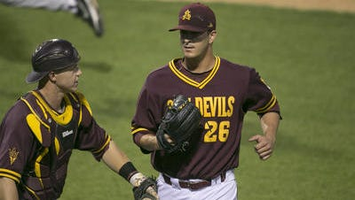Brett Lilek (26) pitched seven strong innings against Arizona on Monday.