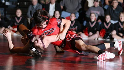 Hunterdon Central wrestling defeats Phillipsburg.
