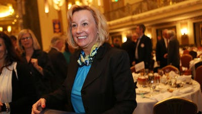Wendy Steele of Impact 100 won the Rotary Club of Cincinnati's Jefferson Award for public service in 2014 at the Hilton Netherland Plaza. The group of women pools donations to make large charitable donations.