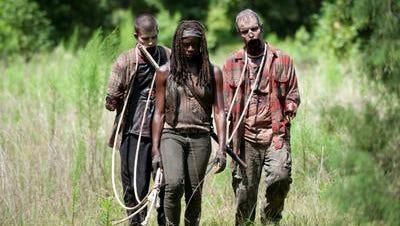 """The Walking Dead"" zombies on the Feb. 9 winter premiere."