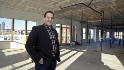 Hansen Real Estate President Troy Hansen said his company is considering building a 90-unit apartment complex along the Des Moines River on the southern end of the East Village.