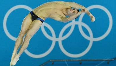 Former Purdue diver David Boudia, shown here in a 2012 Olympic semifinal, won bronze in men's 10-meter synchronized with incoming Purdue freshman Steele Johnson at the 2014 FINA DIving World Cup.