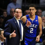 Coach Mike Krzyzewski, Chase Jeter and the Duke Blue Devils dropped out of the USA TODAY Sports coaches poll.