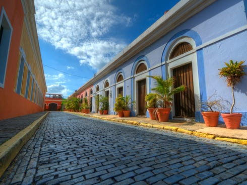 Colorful colonial San Juan, Puerto Rico, practically sits in the backyard of the United States in the Western Caribbean.