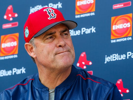 Red Sox manager, John Farrell, took questions at a