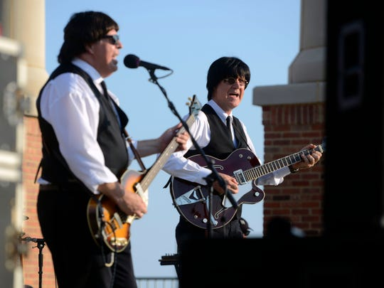 Beatles tribute band Not Quite Fab will kick off this year's Bands on the Beach concert series on Tuesday.