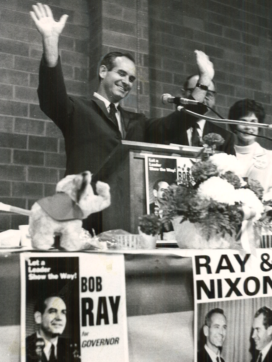 From 1968: Robert Ray, Republican candidate for governor,
