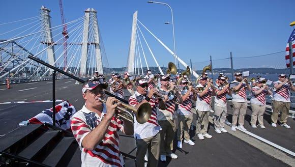 Tappan Zee Bridgemen perform during opening ceremonies