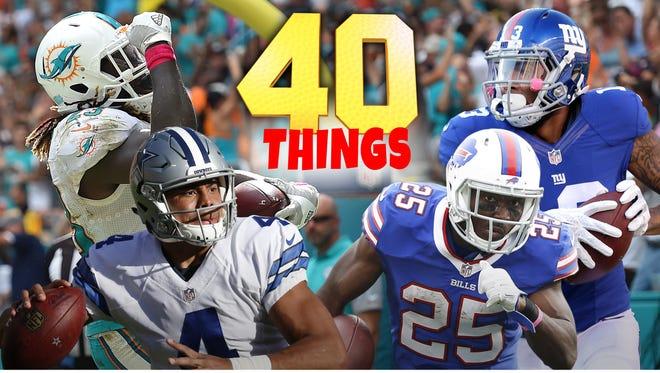 40 things we learned in Week 6 of the 2016 NFL season.