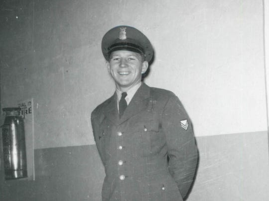 In this undated photo, Lyman Smith wears his uniform for an ROTC class. He and his wife, Charlene Smith, were found dead in their Ventura home in March 1980.